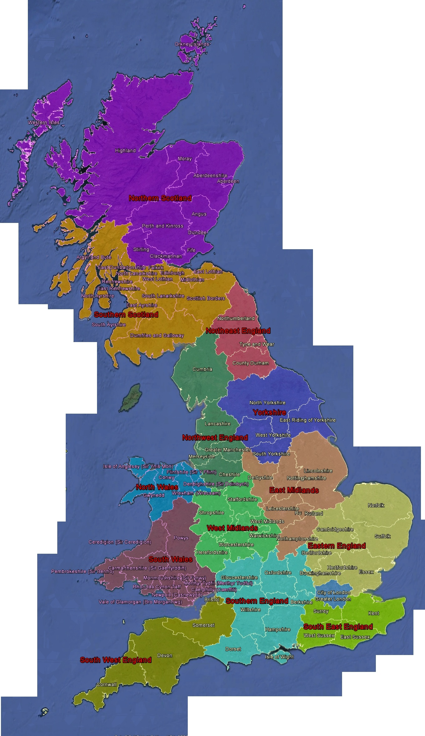 click here for a very large map showing the county boundaries