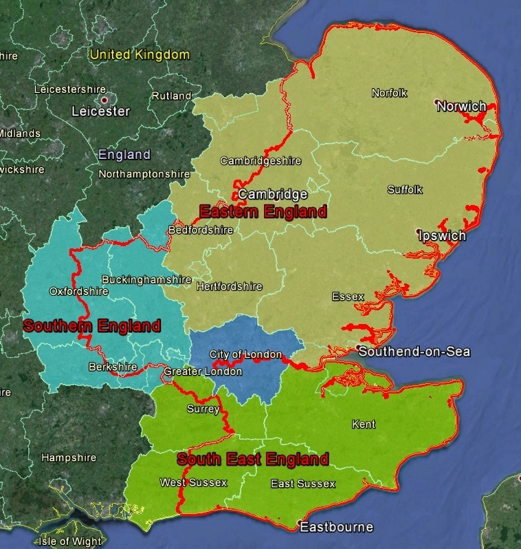 Map Of South East England Counties.Forestry Commission East England Forest District Geocaching Com